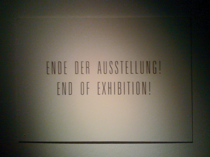End of the Exhibition