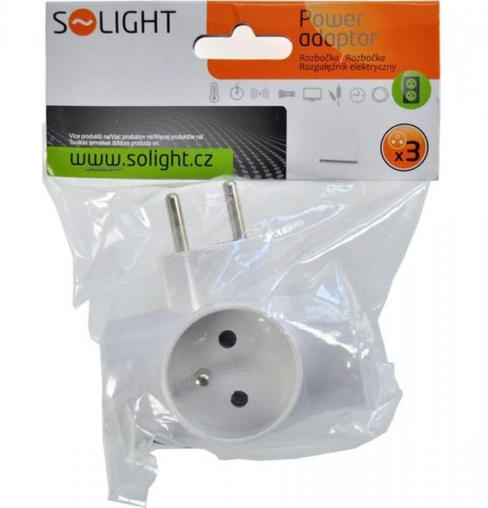 rozbočka SOLIGHT biela 3x16A