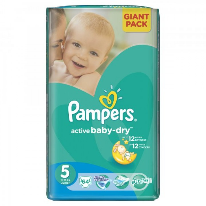 PAMPERS active baby-dry 5 junio.64ks