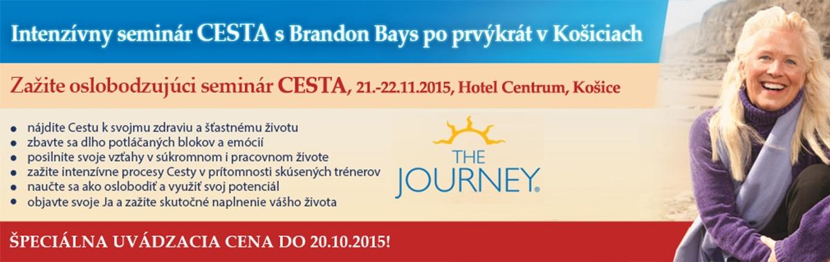 Semin�r Intenz�vna Cesta s Brandon Bays 21. 11. 2015