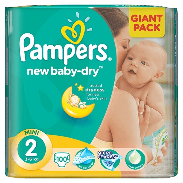PAMPERS active baby-dry 2mini 100ks