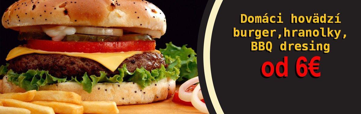 Domáci hamburger už od 6€