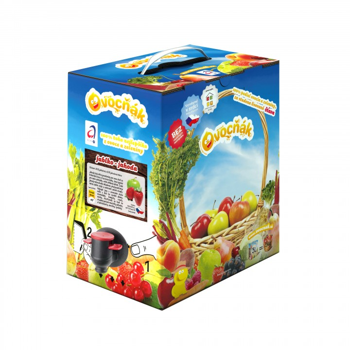 OVOCŇÁK jablko+jahoda 3l