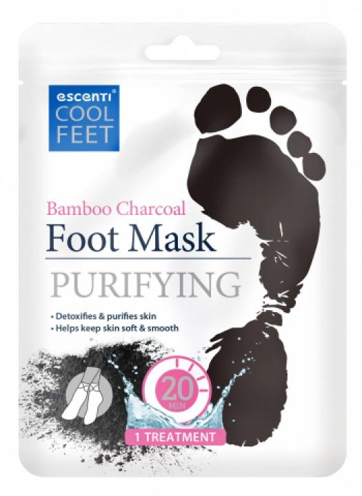 Escenti maska na nohy charcoal