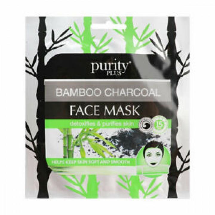 PURITY PLUS plátenná maska charcoal
