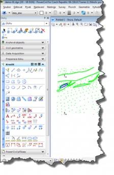 PowerCivil - základné prostredie CAD