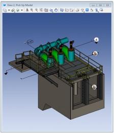 MicroStation - príklad vizualizácie 3D modelu zariadenia
