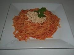 Kukuričné špagety s údeným tofu