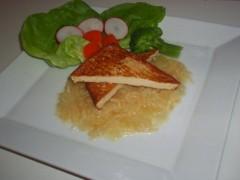 Marinované tofu s zelerom