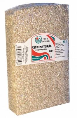Ryža natural krátka 1kg bio Sunfood - Bio ryža natural nelúpaná guľatá.