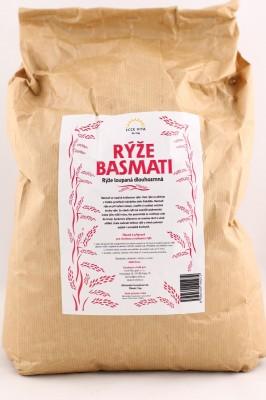 Basmati ryža 5 kg - Ryža basmati lúpaná dlhozrnná. Basmati sa nazýva aj kráľovnou ryže.