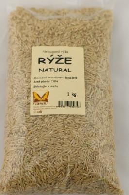 Ryža natural dlhá 1kg JN - Nelúpaná ryža natural