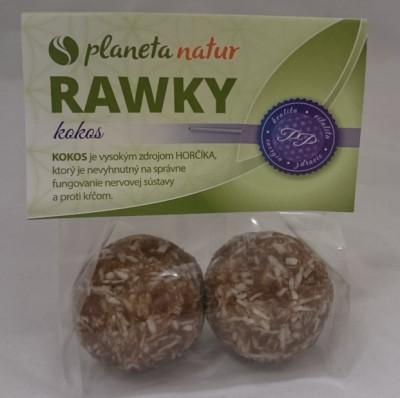Rawky kokosové 50g PN - Delikatesa z datľovej pasty. Energetická RAW sladkosť.