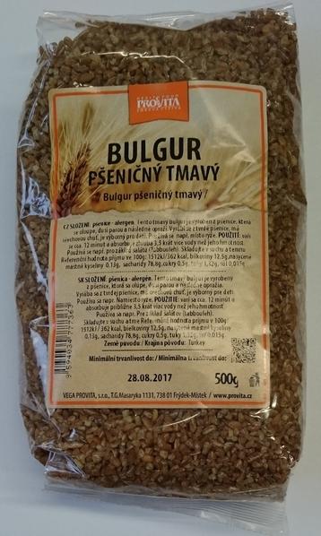 Bulgur pšeničný tmavý 500g VP - Pšeničný bulgur tmavý