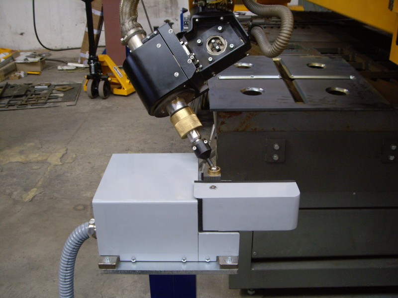 Automatická kalibrace ACTG plazmového hořáku na stroji firmy MicroStep