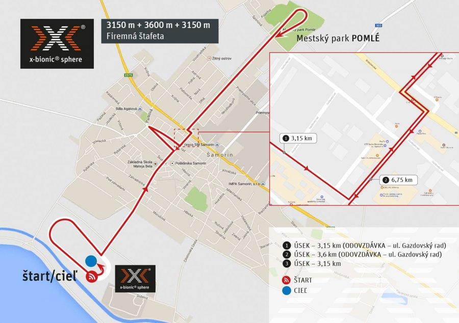 Firemný štafetový beh 3,15 km + 3,6 km + 3,15 km