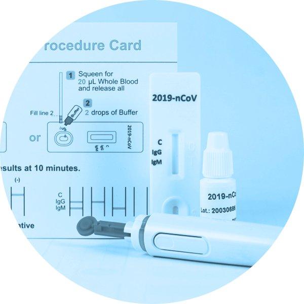 Koronavírus krvný rýchlotest na protilátky - COVID-19