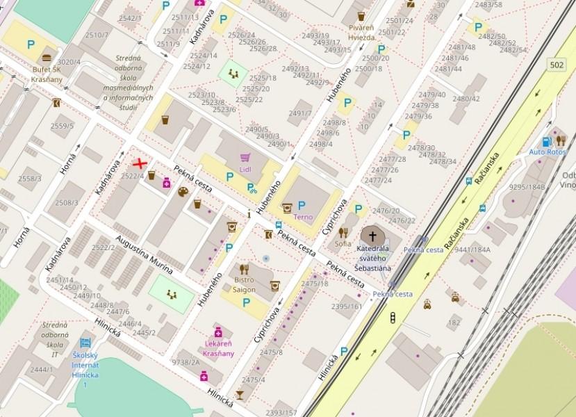 Mapa - poloha predajne